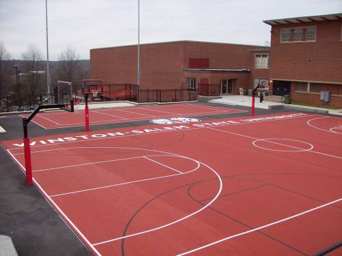 Winston Salem State University Exterior Basketball Courts